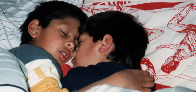 Suraj and Sawan, when they were kids
